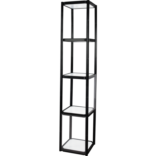 Twist Portable Display Cabinet With 4 Shelves