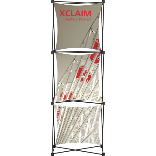 Xclaim 2.5ft Fabric Popup Display Kit 01